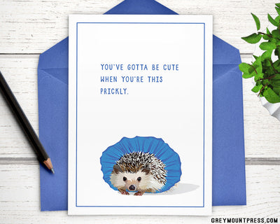 sassy hedgehog card