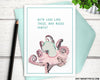 octopus greeting card for friends