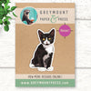 Tuxedo Cat Magnet. Black and White Cat Fridge Magnets for Refrigerator