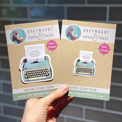 Biblio Typewriter Sticker