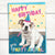 "English bulldog ""Happy birthday, you party animal!"" birthday card"