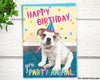 English bull dog funny birthday cards for friend