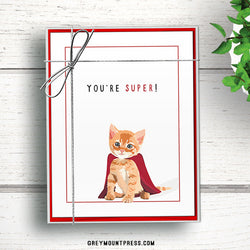 Cat thank you notes. Blank thank you cards. Notecards.