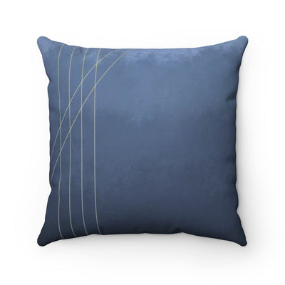 Moods in Blue-Gray Throw Pillow