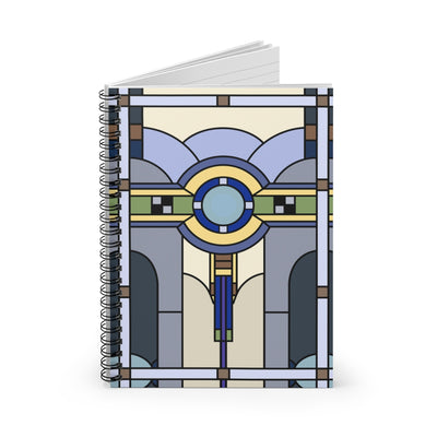 Stained Glass Art Deco Spiral Notebook