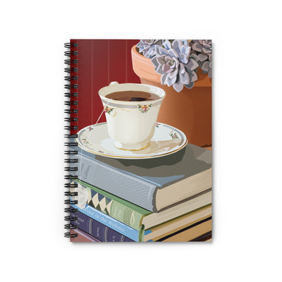 Teacup and Succulent Spiral Notebook