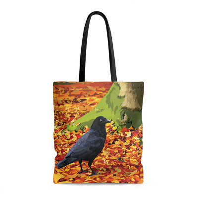 tote bag with crow design