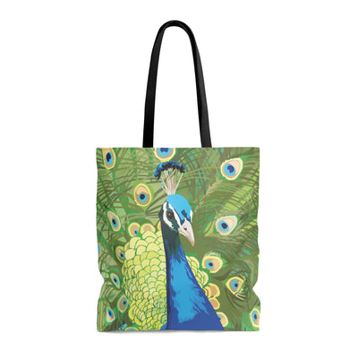 tote bag with peacock design