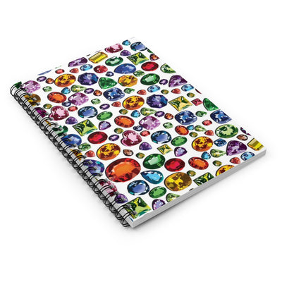 Jewels Gemstone Spiral Notebook