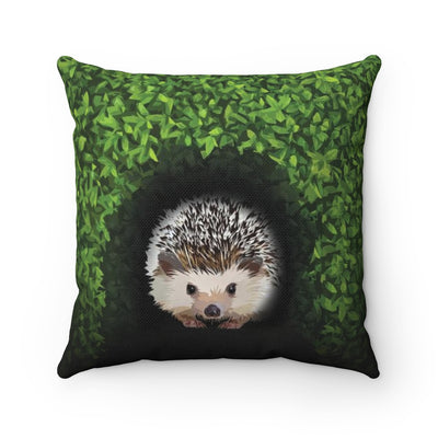 Hedgehog Throw Pillow :: Hedgie in the Hedge
