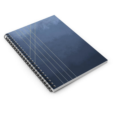 Moods in Blue-Gray Spiral Notebook