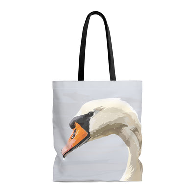 tote bag with swan design
