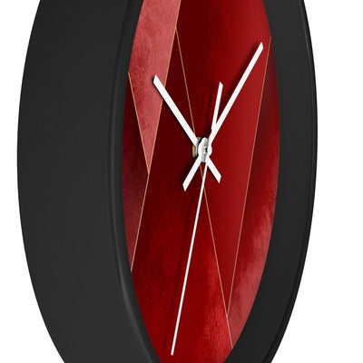 Crimson Tones Wall Clock