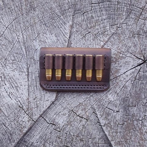 Custom Ammo Carrier, Revolver Bullet Loop Belt Slide