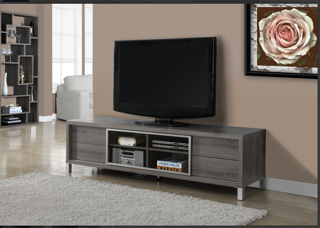 "MEUBLE TV - 70""L / TAUPE FONCE / STYLE EURO ITEM: I 2536"