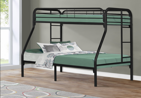 BUNK BED - TWIN / FULL SIZE / BLACK METAL SKU: I 2231K