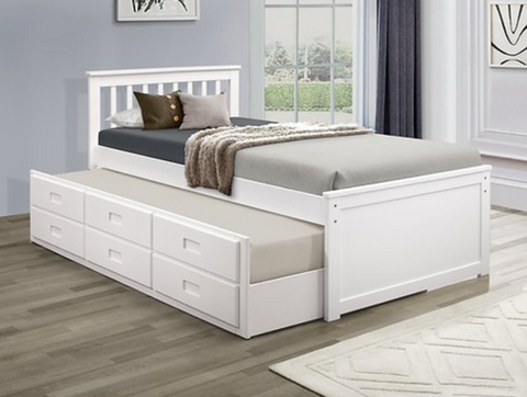 LIT SIMPLE CAPTAIN SINGLE CAPTAIN BED
