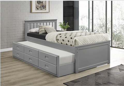 LIT SIMPLE CAPTAIN SINGLE BED