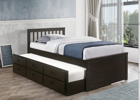 LIT SIMPLE CAPTAIN SINGLE BED CAPTAIN