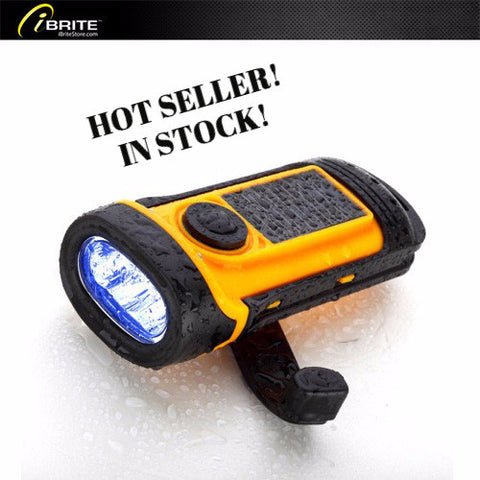 iBriteStore Solar Crank LED Flashlight - The Go-Lite! - iBriteStore - 1