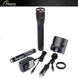 Metal Multi-Function Duty/Personal-Size Flashlight - Rechargeable, 350 Lumen, NSR-9614B - iBriteStore - 3