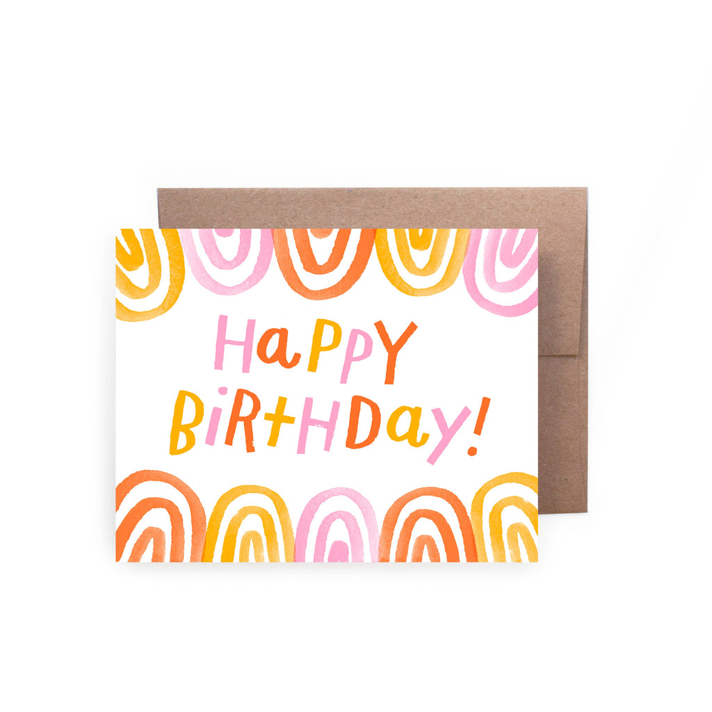 Happy Birthday Rainbows Card - Lois Pearl Boutique