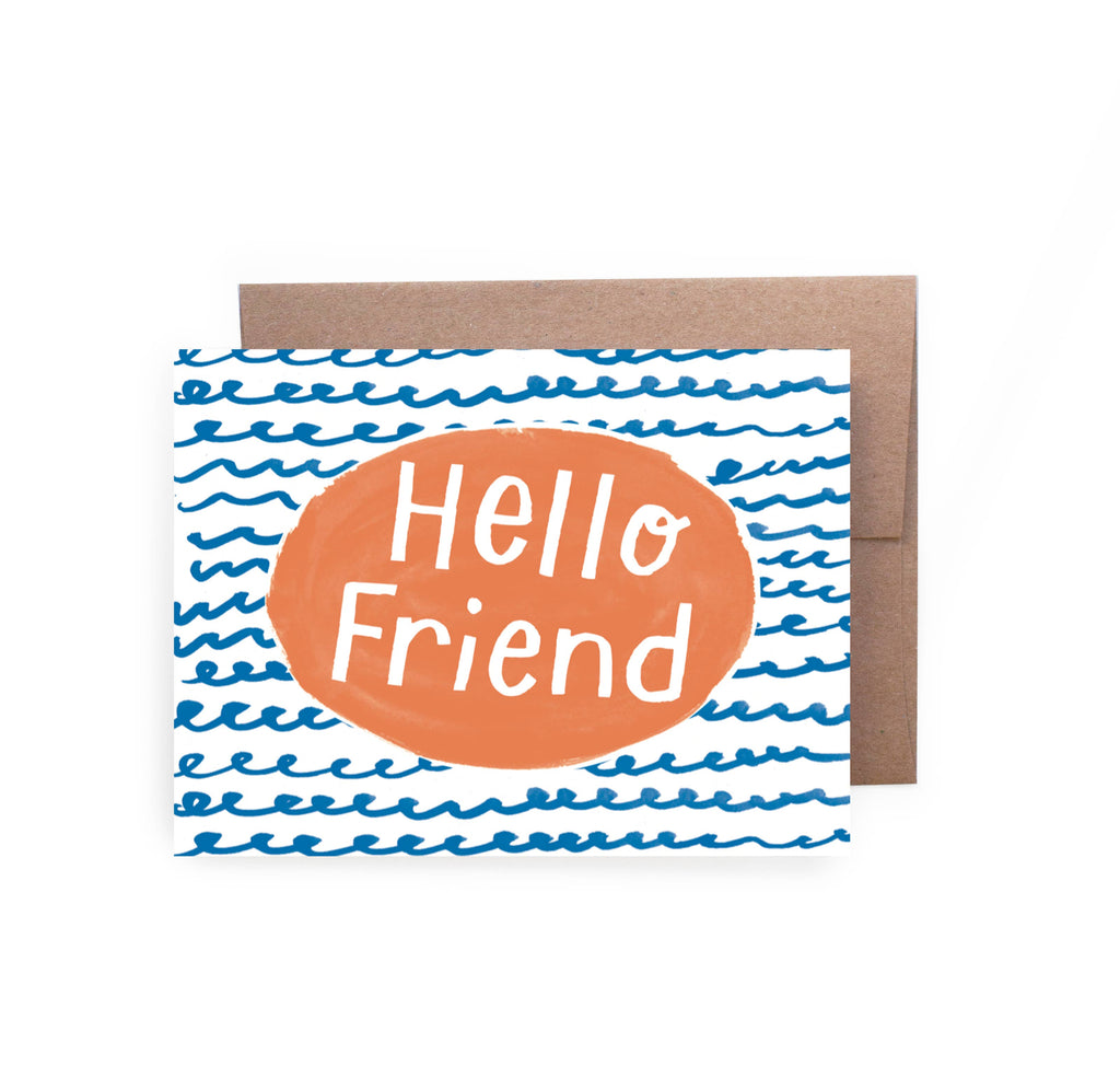 Hello Friend Squiggles Card - Lois Pearl Boutique