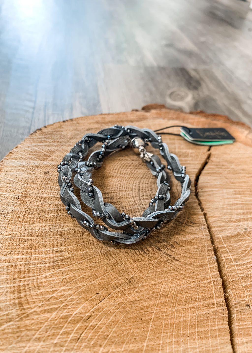 Braided Choker Gray with Titanium - Lois Pearl Designs