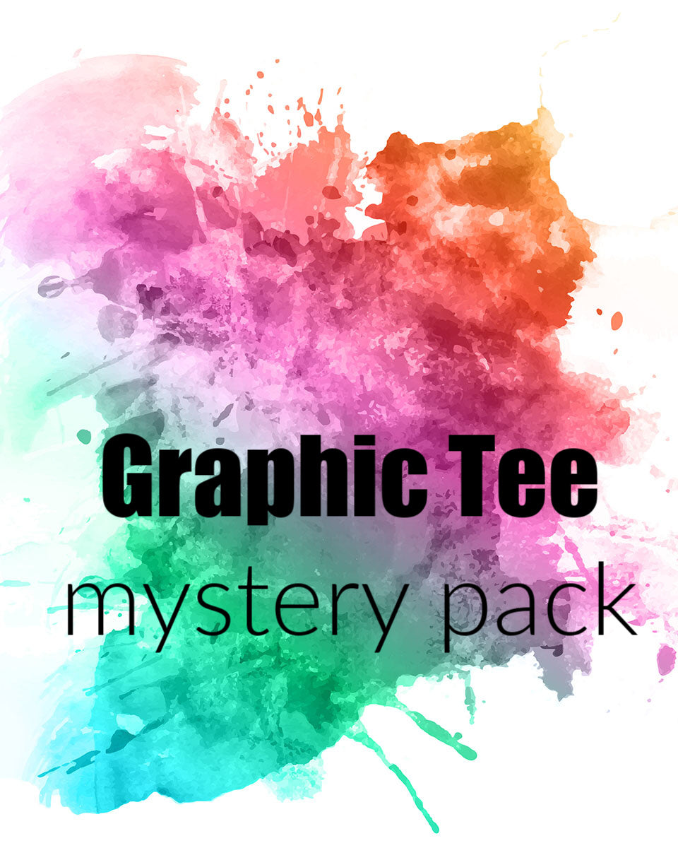 Graphic Tee Mystery Pack - 2 Tees for $25 - Lois Pearl Designs