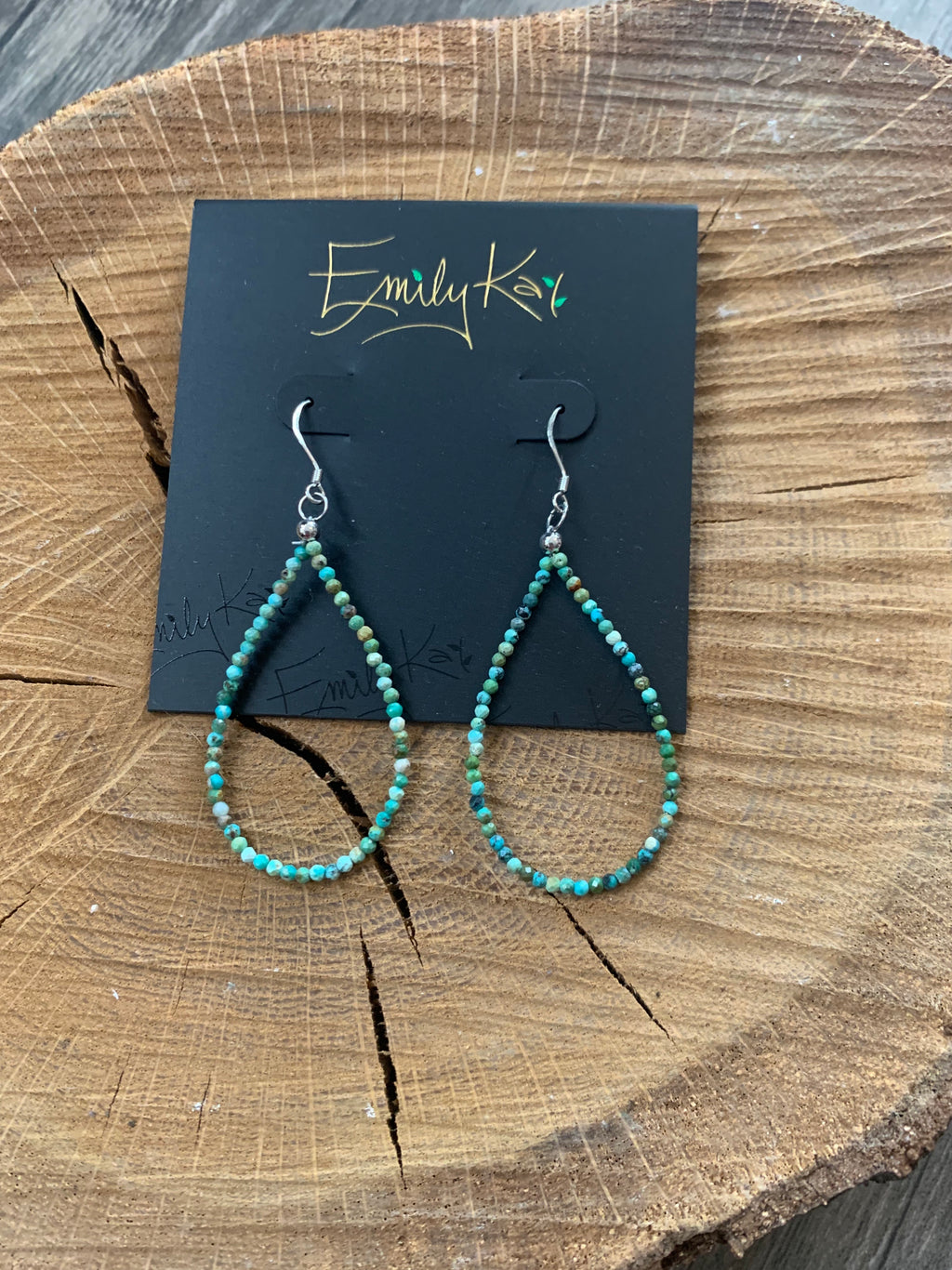 Small Hoop in African Turquoise - Lois Pearl Boutique