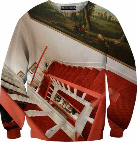 Red stairs 100% Cotton Sweatshirt