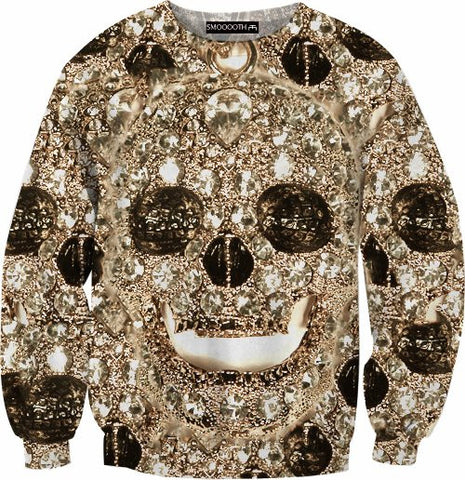 Skull bling 100% Cotton Sweatshirt
