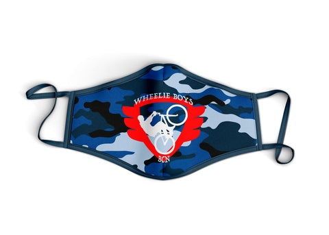 Red Logo Blue Camo