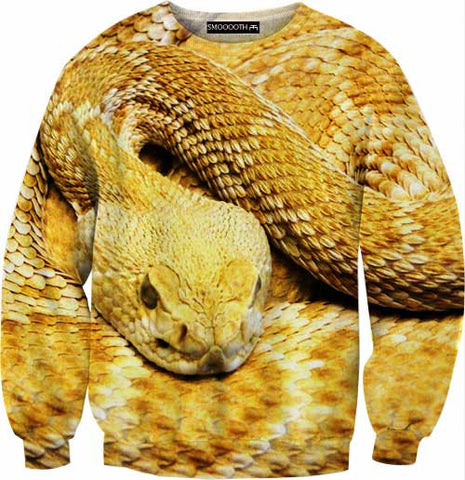 Golden snake 100% Cotton Sweatshirt