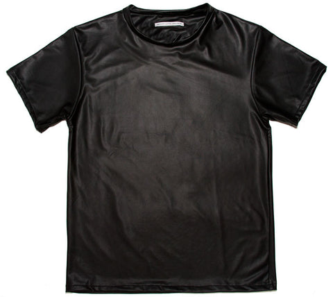 Fake lather t-shirt