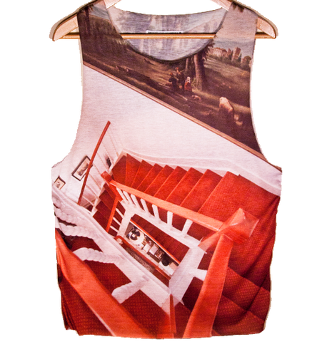 Red stair Tank top