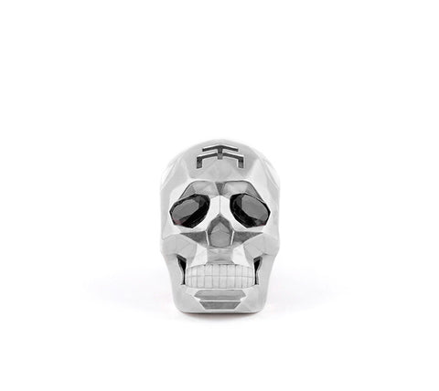 Small Silver Skull Fateced Necklace