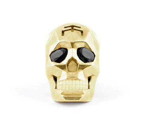 Gold Skull Faceted Necklace