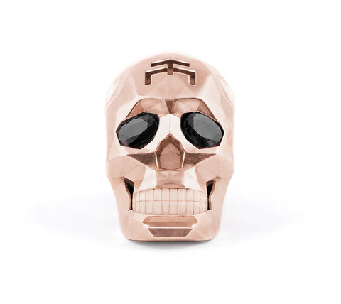 Rose Gold Skull Faceted Necklace