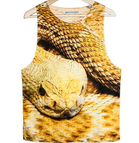 Golden snake Tank top