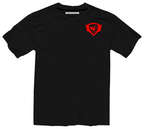 Black T Red Logo