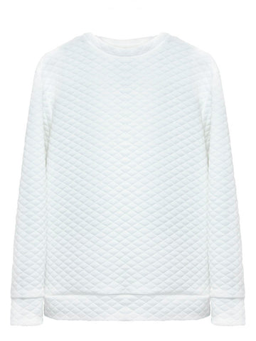 White quilted matelasse