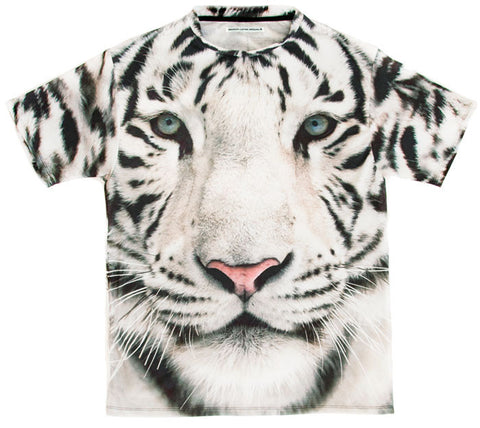 White tiger t 100% Cotton Tee