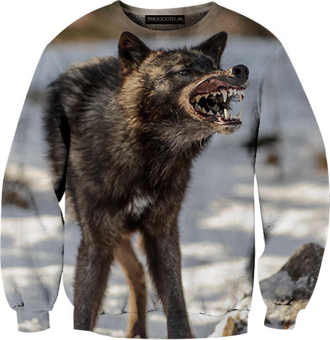 Wolf 100% Cotton Sweatshirt