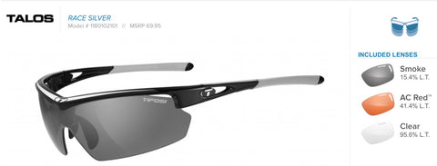 Sunglasses - Talos Race Silver