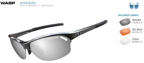 Sunglasses - Wasp Gloss Black