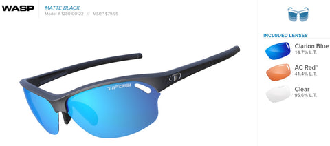 Sunglasses - Wasp Matte Black