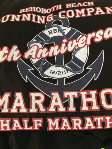 2017 Marathon 10th Anniversary Men's Tech Tee Black