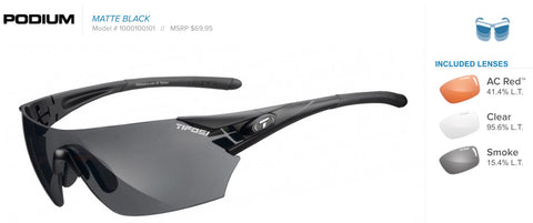 Sunglasses - Podium Matte Black