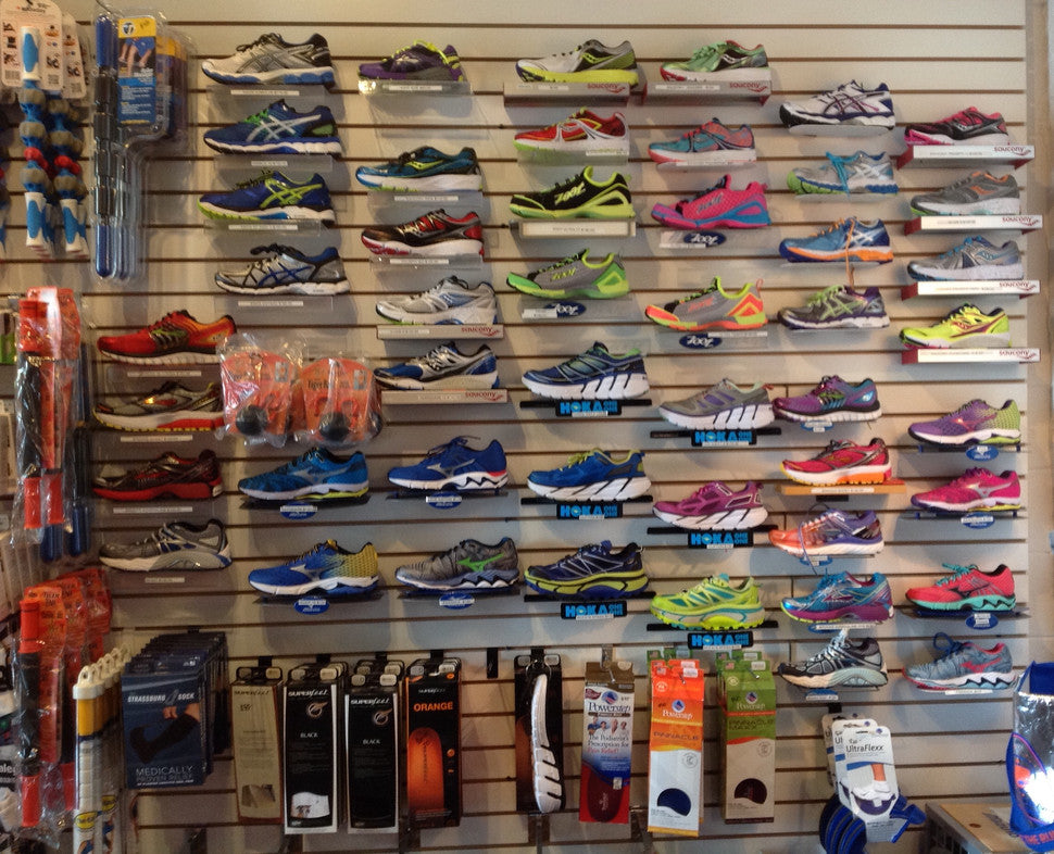 Wall of shoe options